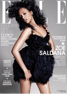 Zoe Saldana, future maman sexy pour Elle
