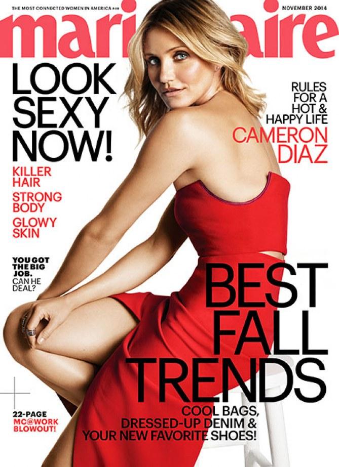 Voici la couverture du Marie Claire US avec Cameron Diaz.