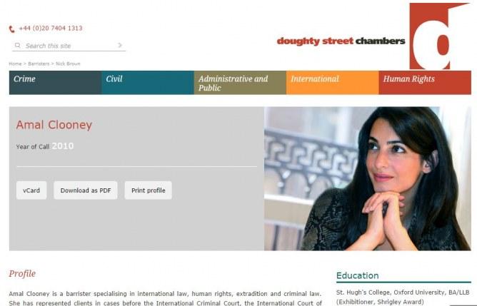 Amal Alamuddin est devenue Amal Clooney