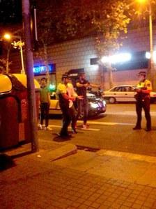 Piqué discute con la Guardia Urbana de Barcelona
