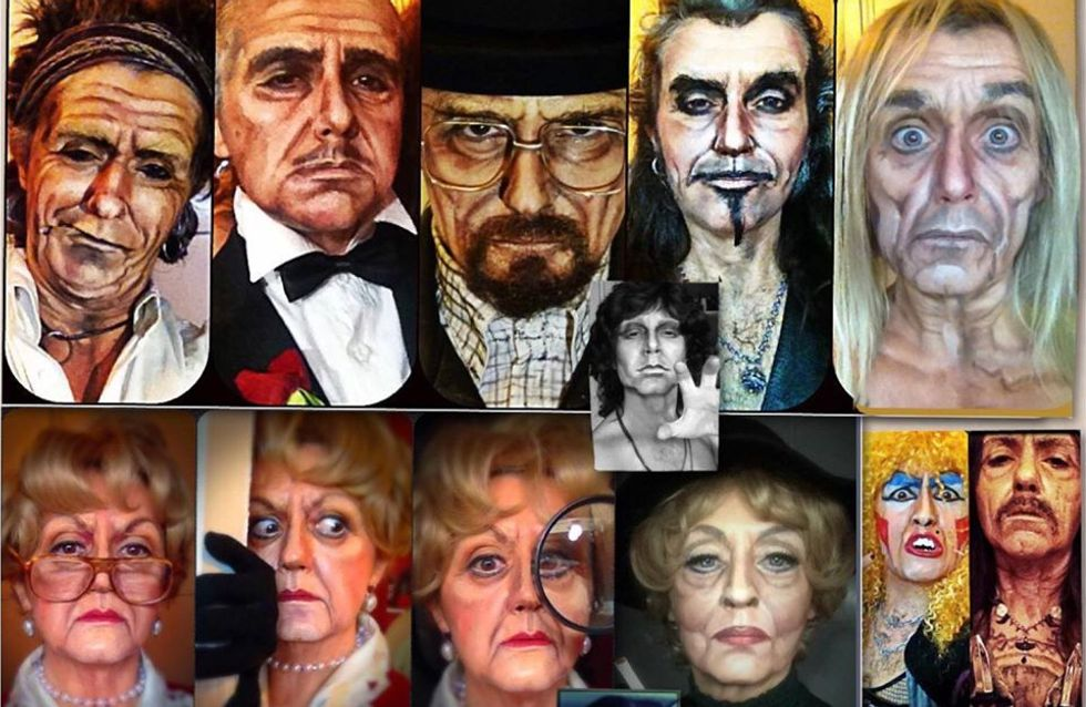 Da Rambo a Jessica Fletcher: le trasformazioni di questa makeup artist ti stupiranno!