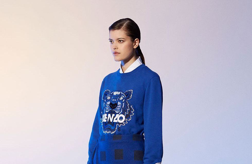 Kenzo revisite son sweat tigre pour la Blue Marine Foundation