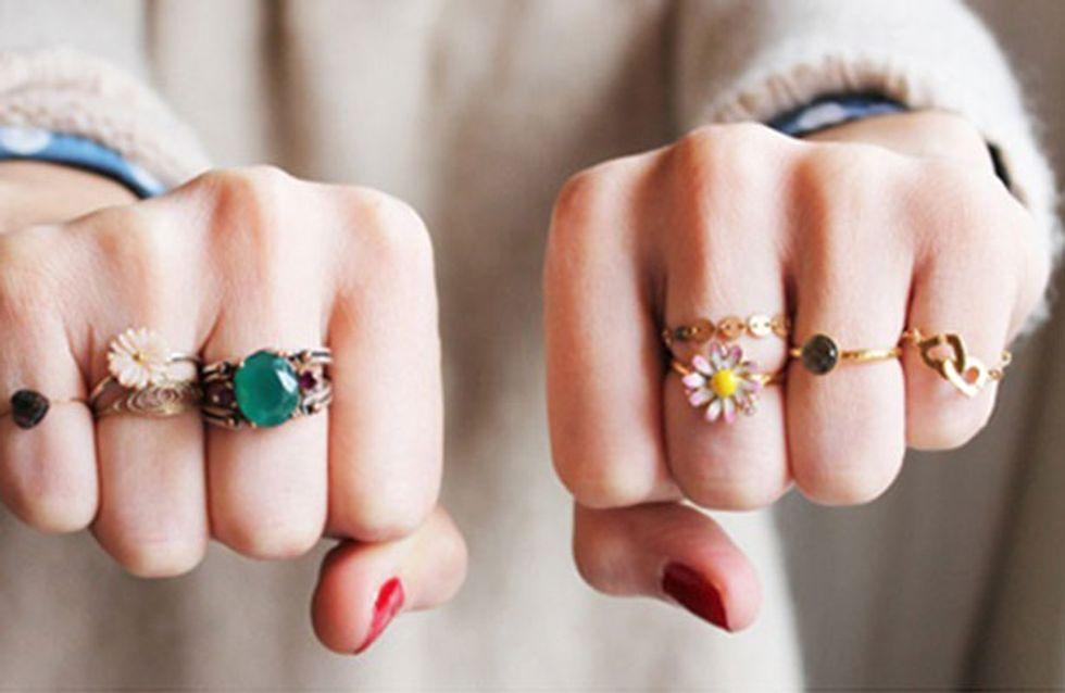 Anel-mania! 67 combinações estilosas de anéis