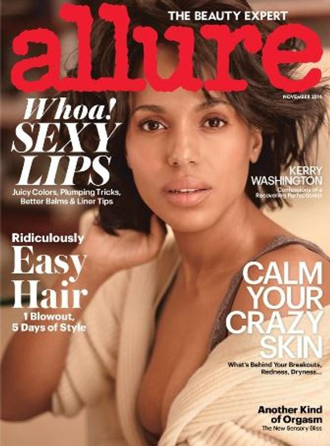 Kerry Washington en couverture d'Allure