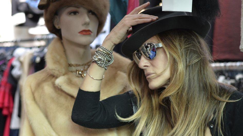Sarah Jessica Parker: shopping al mercatino dell'usato di Roma. Le immagini!
