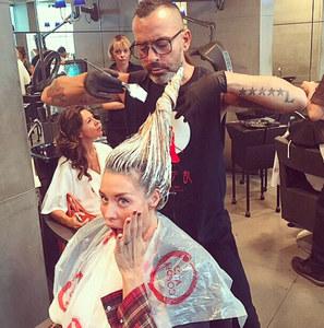Elenoire Casalegno dal parrucchiere