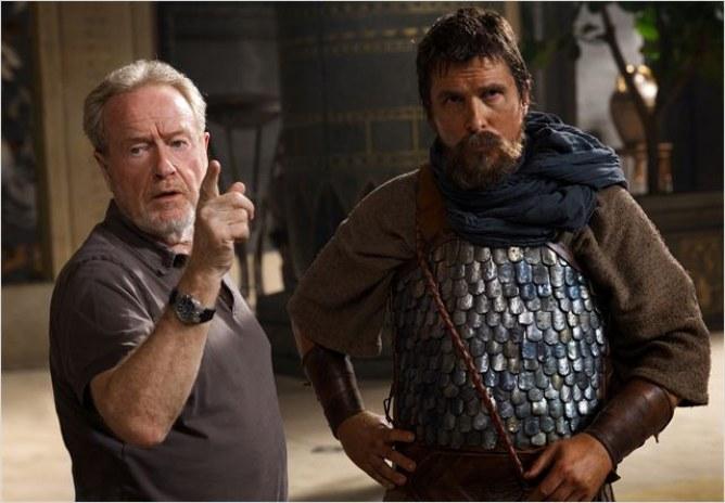 Ridley Scott et Christian Bale.