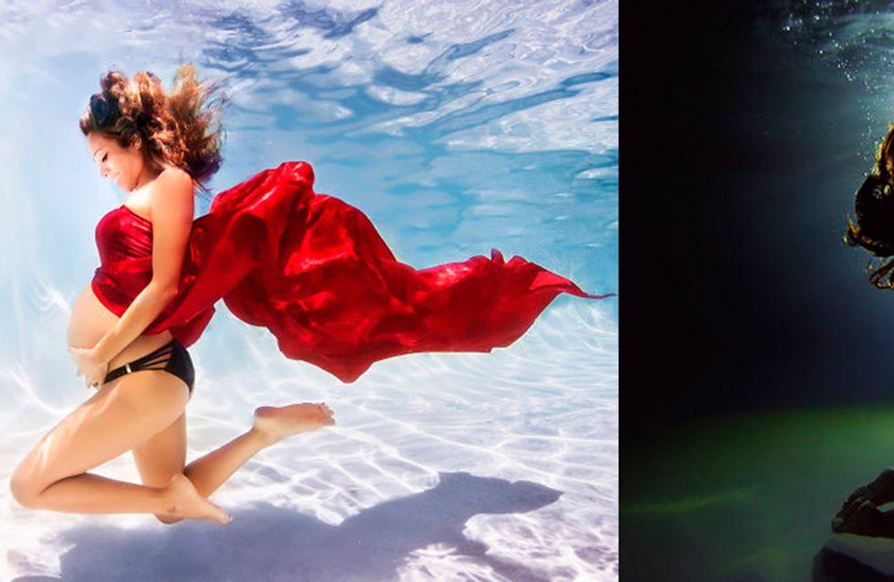 20 imágenes increíbles de la maternidad como nunca la habías visto: bajo el agua