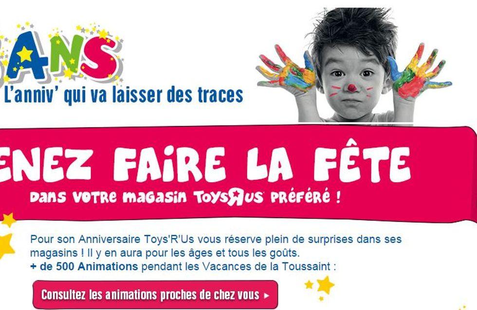 Toys'R'Us, un anniversaire plein d'animations