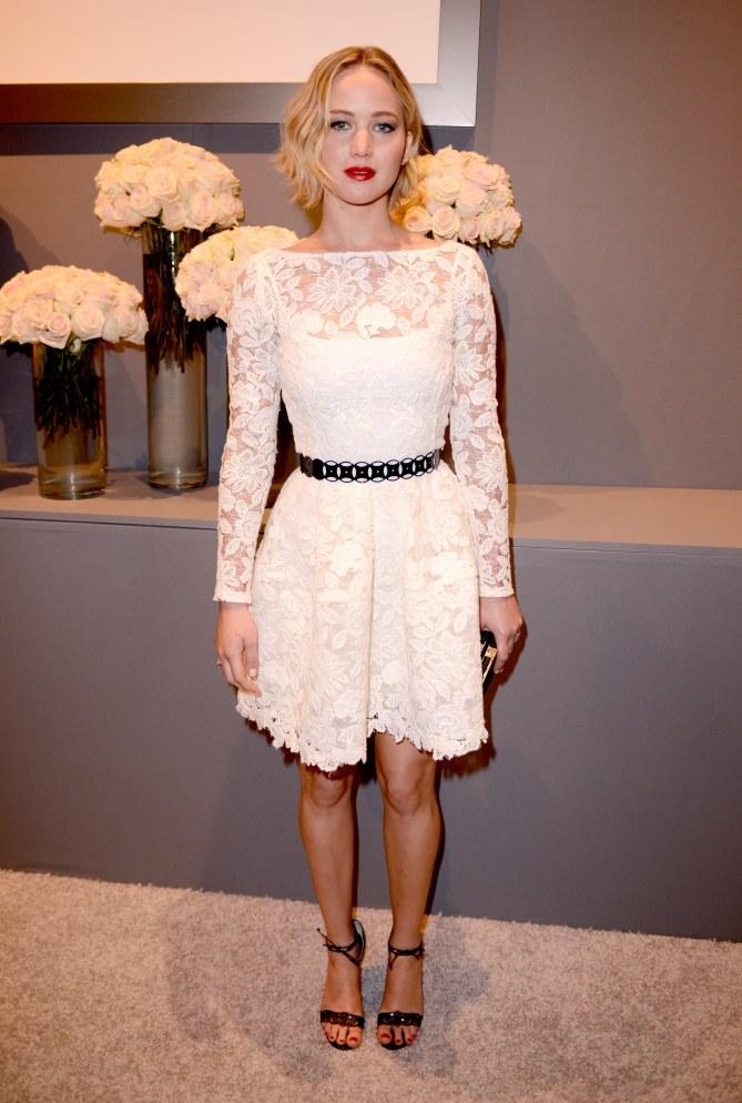 Jennifer Lawrence, en Oscar de la Renta, le 20 octobre 2014