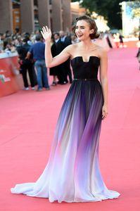 Lily Collins au Festival du film de Rome, le 19 octobre 2014
