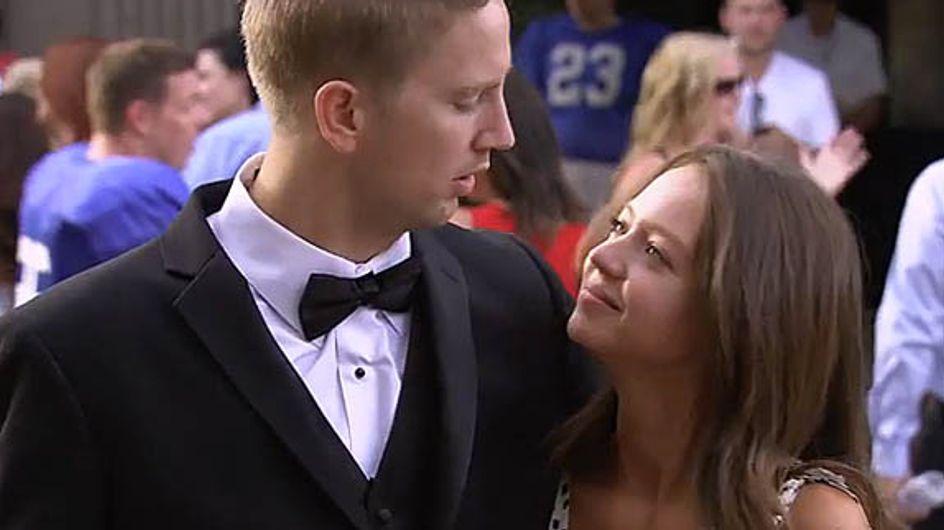 Il fait la plus belle des demandes en mariage à sa petite-amie (Vidéo)