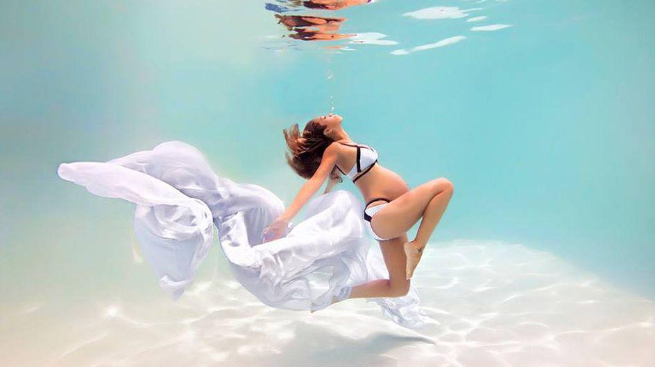 Il sublime la grossesse de ces futures mamans en les photographiant sous l'eau