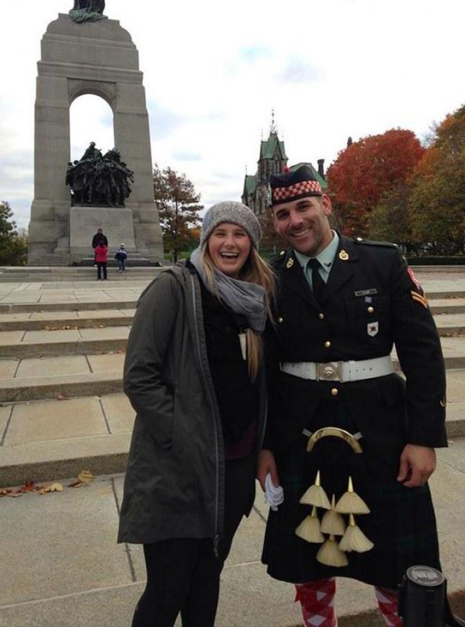 Megan Underwood et le soldat tué à Ottawa