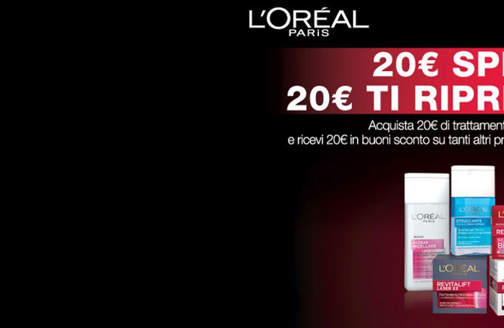 Partecipa al concorso di L'Oréal Paris e ricevi 20€ in buoni sconto