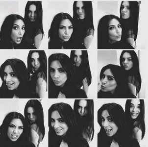 Kendall Jenner et Kim Kardashian.