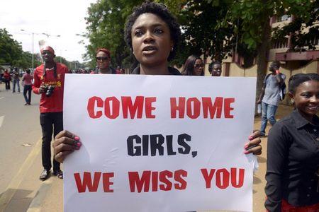 Manifestation pour la libération des Nigérianes enlevées