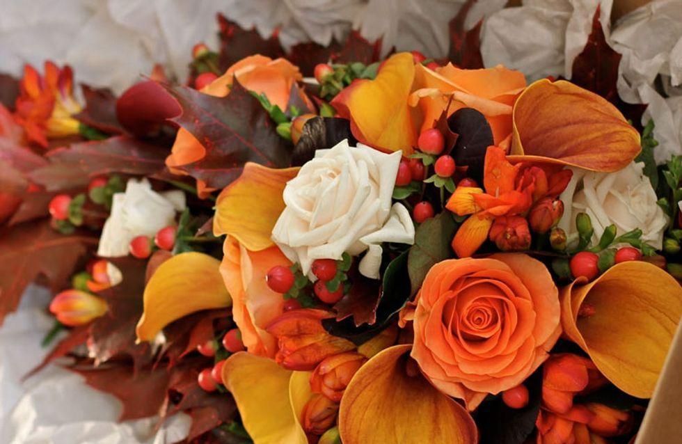 Autumn Wedding Flower Bouquet Inspiration