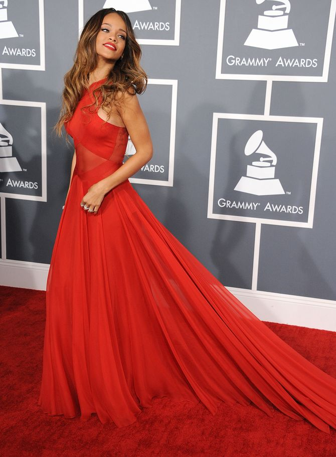 Rihanna aux Grammy Awards 2013.