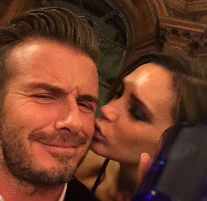 David et Victoria Beckham ensemble.
