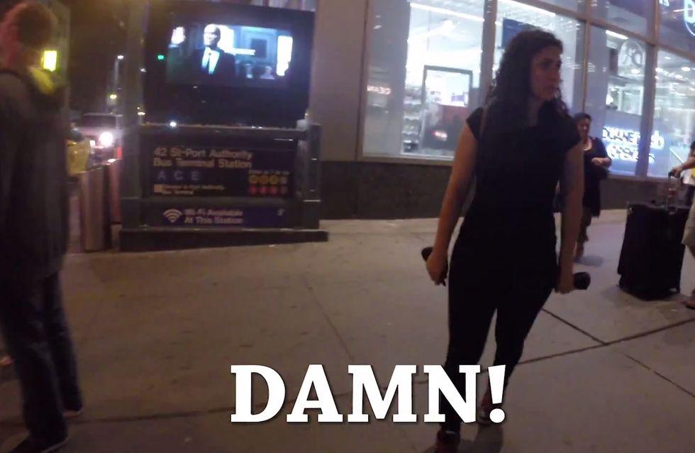 Cosa succede se sei una donna e passeggi da sola per le strade di New York? Puoi ricevere fino a 100 abusi verbali