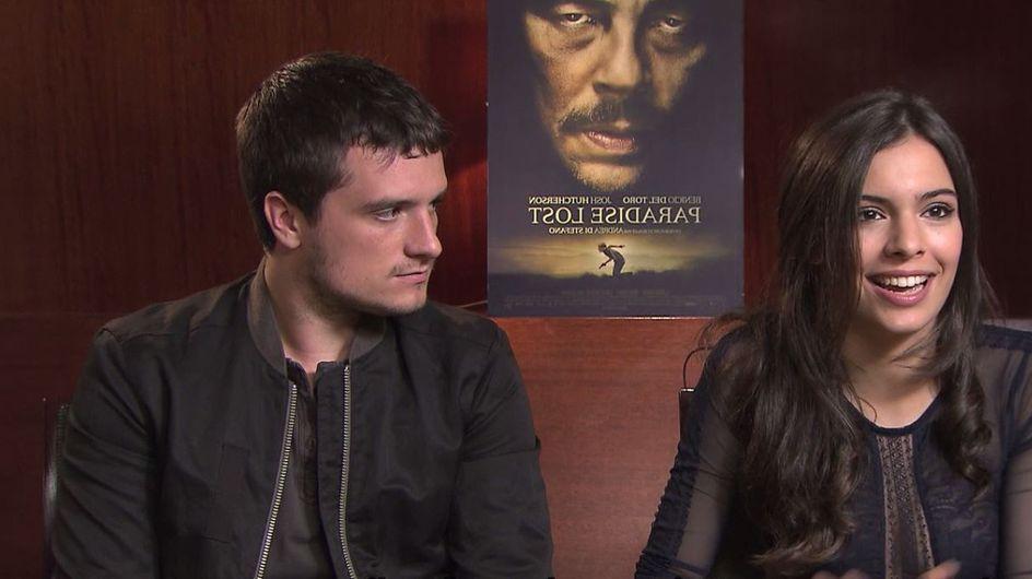 Claudia Traisac et Josh Hutcherson, très complices lors de leur passage à Paris (Vidéo)