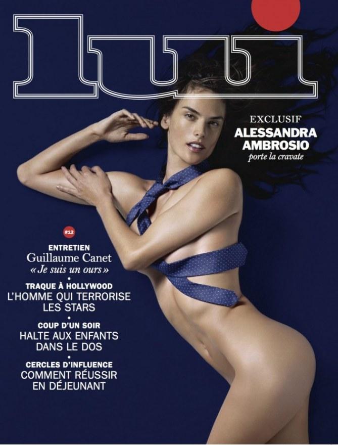 Alessandra Ambrosio en couverture de Lui