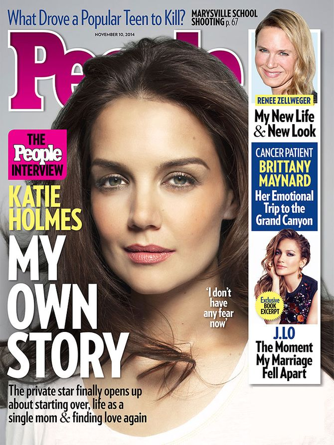 Voici la couverture de People Magazine avec Katie Holmes.
