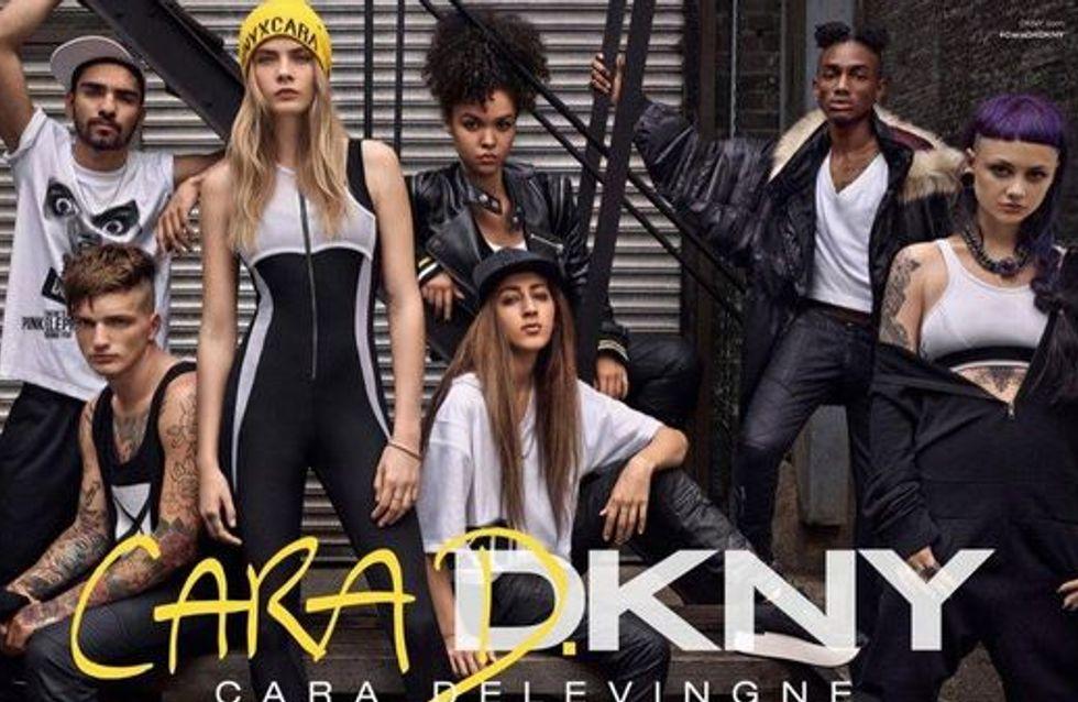 Première collection pour Cara Delevingne chez DKNY