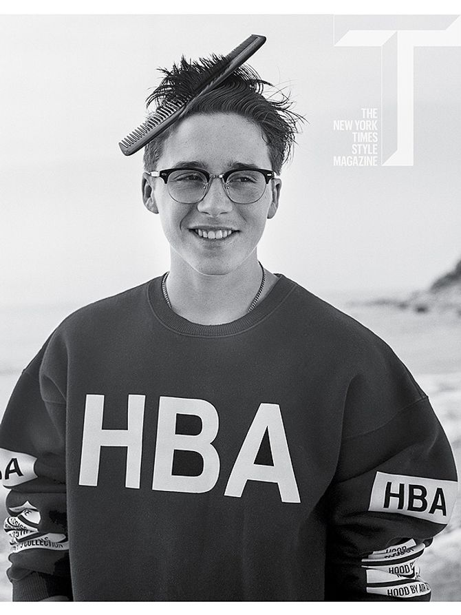 Brooklyn Beckham pour le New York Times Style Magazine