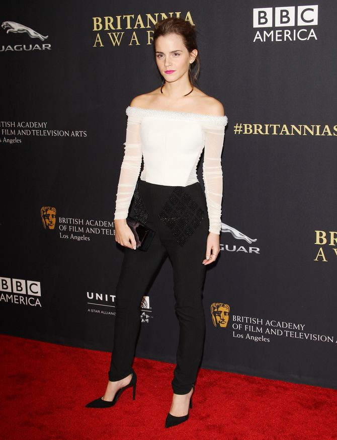 Emma Watson aux BAFTA Awards de Los Angeles, le 30 octobre 2014