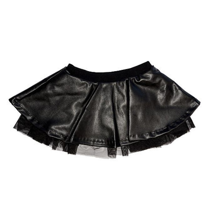 Mini-jupe en cuir Kardashian Kids Clothing