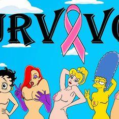 Quand les princesses Disney luttent elles aussi contre le cancer du sein (Photos)