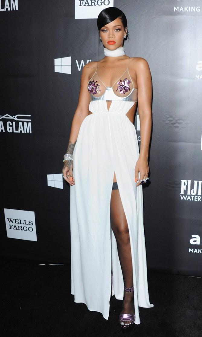 Rihanna au gala amFar.