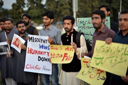 Manifestación en Pakistán