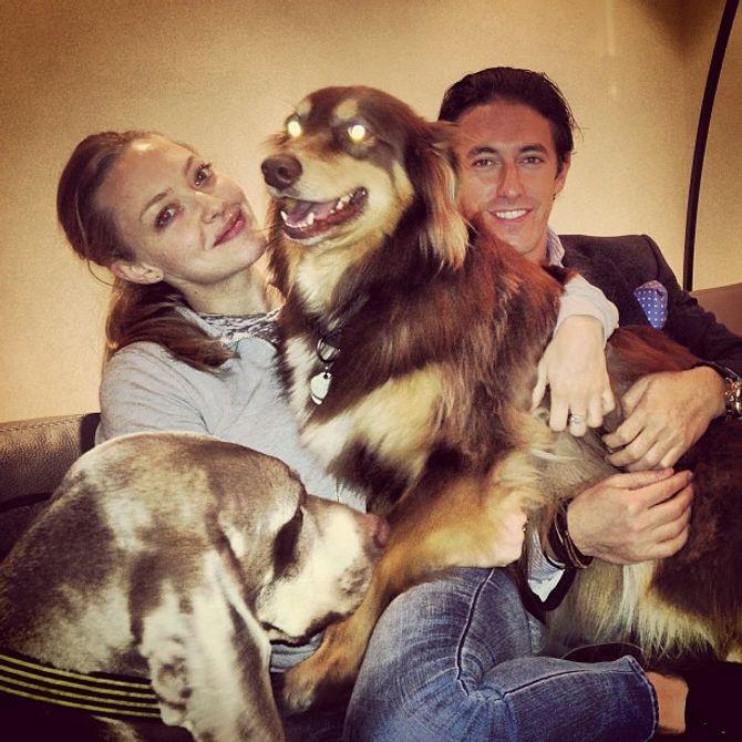 Amanda Seyfried et son chien