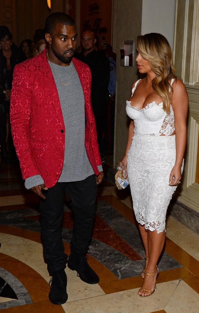 Kanye West et Kim Kardashian à l'anniversaire de la jeune femme.