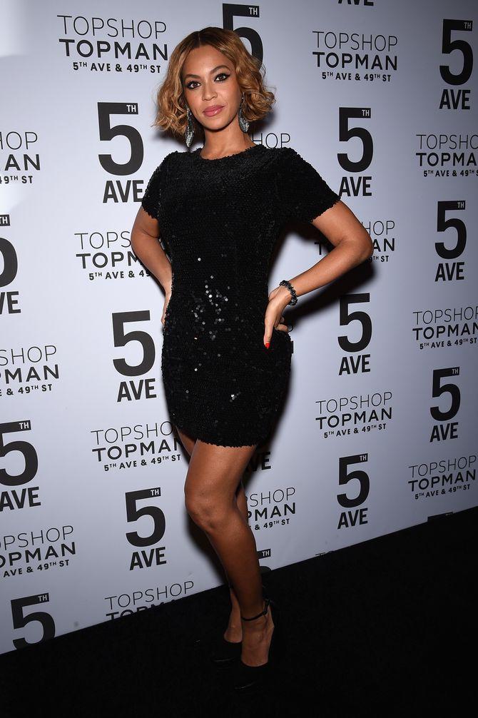 Beyoncé,  à la soirée Topshop, le 4 novembre 2014