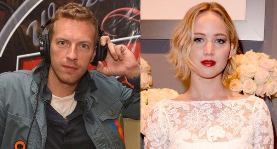 Chris Martin et Jennifer Lawrence.