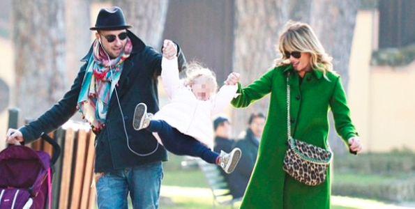 Alessia e Francesco con la piccola Mia