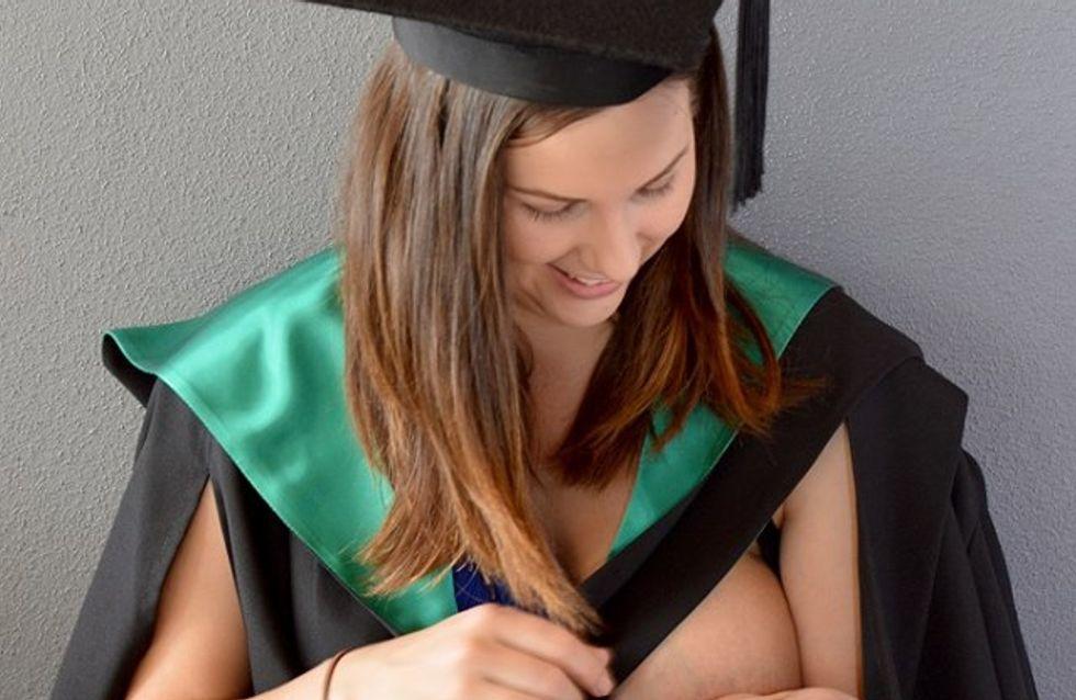 Une étudiante tout juste diplômée allaite son enfant et émeut la toile