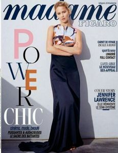 Jennifer Lawrence en couverture de Madame Figaro.