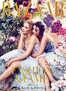 Kylie et Dannii Minogue en couverture du Harper's Bazaar australien