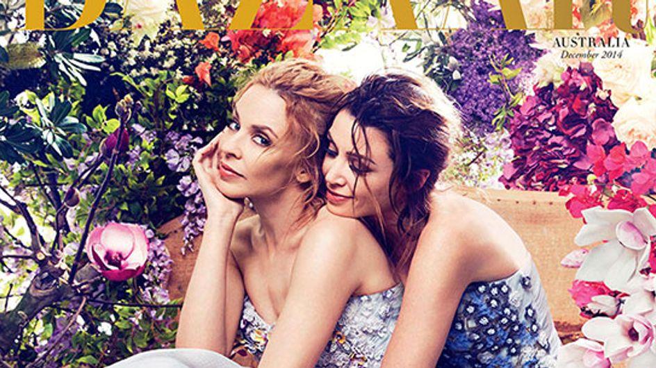 Kylie et Dannii Minogue réunies en Une du magazine Harper's Bazaar
