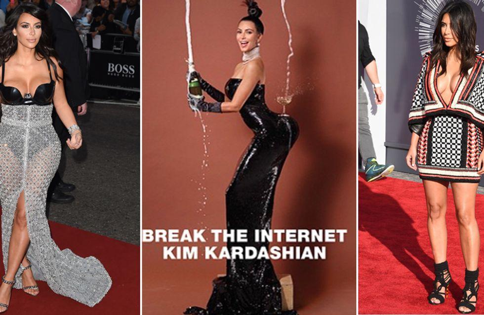 Kim Kardashian mette in mostra il suo lato B sulla cover di un giornale. Guarda le sexy foto!