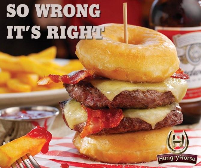 Le Double Donut Burger  de Hungry Horse