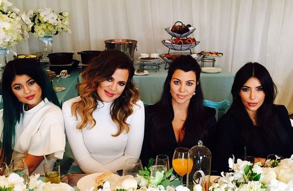 Kourtney Kardashian, future maman rayonnante pour sa baby shower (Photos)