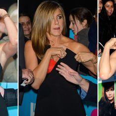 Jennifer Aniston e i problemini con l'abito. Le foto dell'attrice e del suo vestito impegnativo