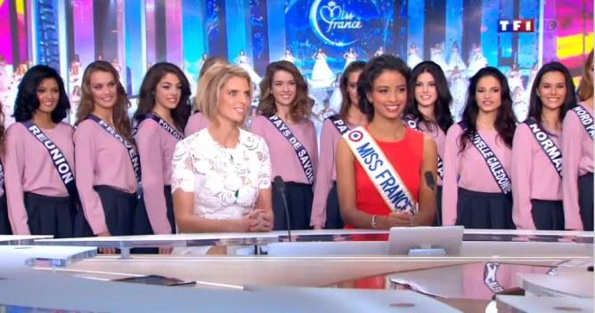Les Miss sur le JT de TF1.