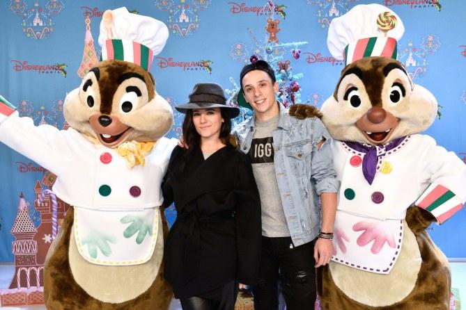 Alizée et Grégoire à la découverte des festivités de Noël de Disney